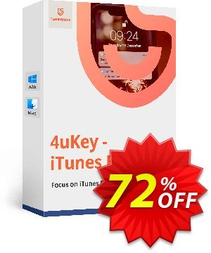 Tenorshare 4uKey iTunes Backup (Lifetime License) Coupon, discount discount. Promotion: coupon code