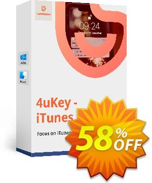 Tenorshare 4uKey iTunes Backup (Unlimited License) Coupon, discount discount. Promotion: coupon code