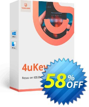 Tenorshare 4uKey for Mac (Unlimited License) Coupon, discount 58% OFF Tenorshare 4uKey for Mac (Unlimited License), verified. Promotion: Stunning promo code of Tenorshare 4uKey for Mac (Unlimited License), tested & approved