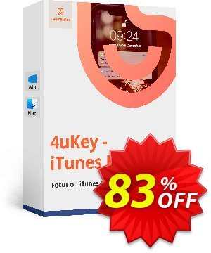 Tenorshare 4uKey iTunes Backup (11-15 Devices) 프로모션 코드 discount 프로모션: coupon code