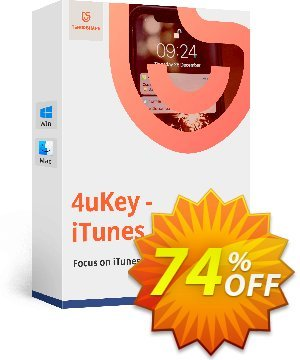 Tenorshare 4uKey iTunes Backup (1 year License) discount coupon discount - coupon code