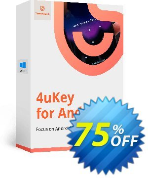 Tenorshare 4uKey for Android Coupon, discount discount. Promotion: coupon code