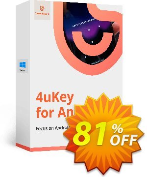 Tenorshare 4uKey for Android (11-15 Devices) Coupon, discount discount. Promotion: coupon code