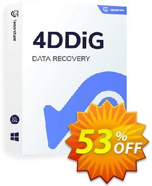 Tenorshare 4DDiG Mac Data Recovery (1 Year License) offering sales 60% OFF Tenorshare 4DDiG, verified. Promotion: Stunning promo code of Tenorshare 4DDiG, tested & approved