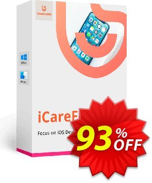 Tenorshare iCareFone (6-10 PCs) discount coupon 93% OFF Tenorshare iCareFone (6-10 PCs), verified - Stunning promo code of Tenorshare iCareFone (6-10 PCs), tested & approved