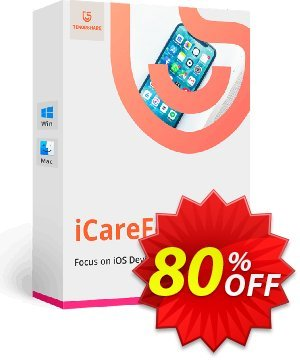 Tenorshare iCareFone for Mac (1 Year License) Coupon, discount Promotion code. Promotion: Offer discount