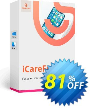 Tenorshare iCareFone for Mac (2-5 Macs) Coupon, discount Promotion code. Promotion: Offer discount