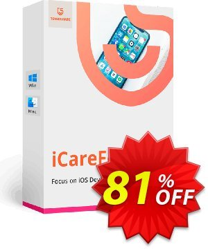 Tenorshare iCareFone for Mac (6-10 Macs) Coupon, discount Promotion code. Promotion: Offer discount
