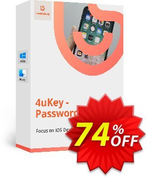 Tenorshare 4uKey Password Manager (1 Month License) discount coupon 74% OFF Tenorshare 4uKey Password Manager (1 Month License), verified - Stunning promo code of Tenorshare 4uKey Password Manager (1 Month License), tested & approved
