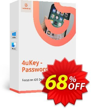 Tenorshare 4uKey Password Manager (1 Year License) discount coupon 68% OFF Tenorshare 4uKey Password Manager (1 Year License), verified - Stunning promo code of Tenorshare 4uKey Password Manager (1 Year License), tested & approved