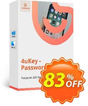 Tenorshare 4uKey Password Manager for MAC discount coupon 83% OFF Tenorshare 4uKey Password Manager for MAC, verified - Stunning promo code of Tenorshare 4uKey Password Manager for MAC, tested & approved