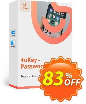 Tenorshare 4uKey Password Manager for MAC (1 year) discount coupon 83% OFF Tenorshare 4uKey Password Manager for MAC (1 year), verified - Stunning promo code of Tenorshare 4uKey Password Manager for MAC (1 year), tested & approved
