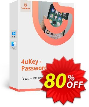 Tenorshare 4uKey Password Manager for MAC (Lifetime) discount coupon 80% OFF Tenorshare 4uKey Password Manager for MAC (Lifetime), verified - Stunning promo code of Tenorshare 4uKey Password Manager for MAC (Lifetime), tested & approved