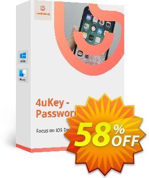 Tenorshare 4uKey Password Manager (Lifetime License) discount coupon 58% OFF Tenorshare 4uKey Password Manager (Lifetime License), verified - Stunning promo code of Tenorshare 4uKey Password Manager (Lifetime License), tested & approved