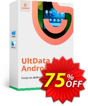 Tenorshare UltData Android Data Recovery for Mac discount coupon Tenorshare special coupon (29742) -
