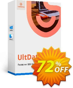 UltData iPhone Data Recovery discount coupon 10% Tenorshare 29742 -