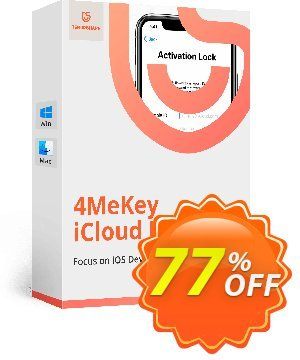 Tenorshare 4MeKey for MAC (1 Year License) Coupon, discount 77% OFF Tenorshare 4MeKey for MAC (1 Year License), verified. Promotion: Stunning promo code of Tenorshare 4MeKey for MAC (1 Year License), tested & approved