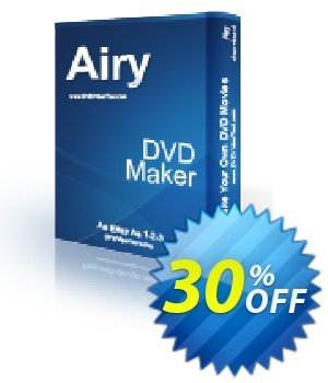 Airy DVD Maker Coupon, discount 30% OFF Airy DVD Maker, verified. Promotion: Awesome discounts code of Airy DVD Maker, tested & approved