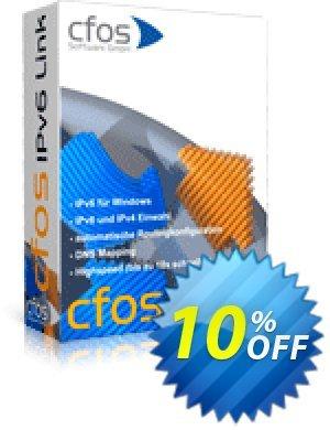 cFos IPv6 Link Coupon discount 10% OFF cFos IPv6 Link, verified