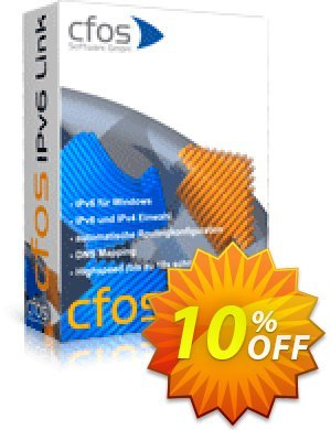 cFos IPv6 Link 優惠券,折扣碼 10% OFF cFos IPv6 Link, verified,促銷代碼: Impressive discounts code of cFos IPv6 Link, tested & approved