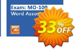 MO-100 Word Associate Exam discount coupon MO-100 Word Associate Exam - Office 365 & Office 2019 - English version - 25 hours of access Super sales code 2021 - Super sales code of MO-100 Word Associate Exam - Office 365 & Office 2019 - English version - 25 hours of access 2021