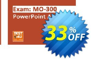 MO-300 PowerPoint Associate Exam discount coupon MO-300 PowerPoint Associate Exam -  Office 365 & Office 2019 - English version - 25 hours of access Stirring deals code 2021 - Stirring deals code of MO-300 PowerPoint Associate Exam -  Office 365 & Office 2019 - English version - 25 hours of access 2021