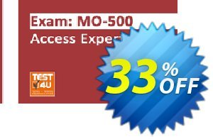 MO-500 Access Expert Exam discount coupon MO-500 Access Expert Exam - Office 365 & Office 2019 - English version - 25 hours of access Super promo code 2021 - Super promo code of MO-500 Access Expert Exam - Office 365 & Office 2019 - English version - 25 hours of access 2021