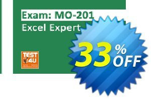 MO-201 Excel Expert Exam Coupon discount MO-201 Excel Expert Exam - Office 365 & Office 2019 - English version - 25 hours of access Awesome discount code 2021. Promotion: Awesome discount code of MO-201 Excel Expert Exam - Office 365 & Office 2019 - English version - 25 hours of access 2021