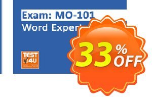 MO-101 Word Expert Exam discount coupon MO-101 Word Expert Exam - Office 365 & Office 2019 - English version - 25 hours access Amazing discount code 2021 - Amazing discount code of MO-101 Word Expert Exam - Office 365 & Office 2019 - English version - 25 hours access 2021