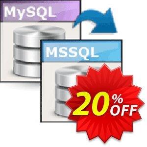 Viobo MySQL to MSSQL Data Migrator Pro discount coupon Viobo MySQL to MSSQL Data Migrator Pro. Impressive sales code 2021 - Impressive sales code of Viobo MySQL to MSSQL Data Migrator Pro. 2021
