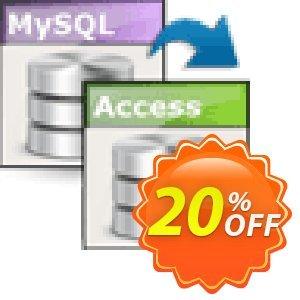 Viobo MySQL to Access Data Migrator Pro discount coupon Viobo MySQL to Access Data Migrator Pro. Stunning discounts code 2021 - Stunning discounts code of Viobo MySQL to Access Data Migrator Pro. 2021