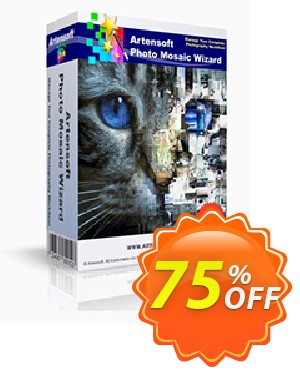 Artensoft Photo Mosaic Wizard-French Coupon, discount ARTENSOFT75EETEW. Promotion: