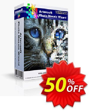 Artensoft Photo Mosaic Wizard offering sales discount 75%. Promotion: