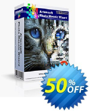 Artensoft Photo Mosaic Wizard产品销售 discount 75%