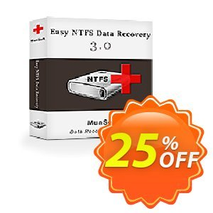 Easy NTFS Data Recovery Coupon, discount MunSoft coupon (31351). Promotion: MunSoft discount promotion