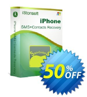 iStonsoft iPhone SMS+Contacts Recovery 優惠券,折扣碼 60% off,促銷代碼: 60% off