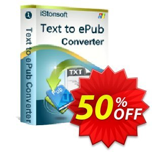 iStonsoft Text to ePub Converter Coupon, discount Affiliate 60% OFF. Promotion: