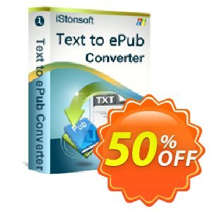 iStonsoft Text to ePub Converter Coupon, discount 60% off. Promotion: