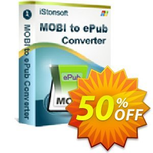 iStonsoft MOBI to ePub Converter Coupon, discount 60% off. Promotion: