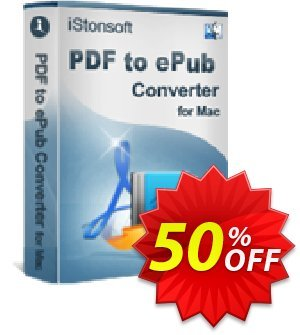 iStonsoft PDF to ePub Converter for Mac 優惠券,折扣碼 60% off,促銷代碼: