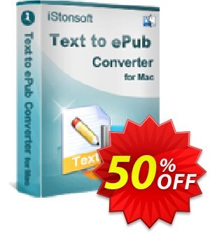 iStonsoft Text to ePub Converter for Mac Coupon, discount Affiliate 60% OFF. Promotion: