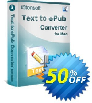 iStonsoft Text to ePub Converter for Mac Coupon discount 60% off. Promotion:
