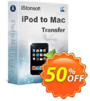 iStonsoft iPod to Mac Transfer Coupon, discount 60% off. Promotion: