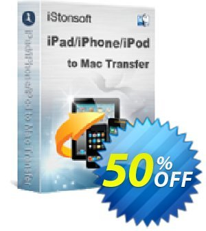 iStonsoft iPad/iPhone/iPod to Mac Transfer Coupon, discount 60% off. Promotion: