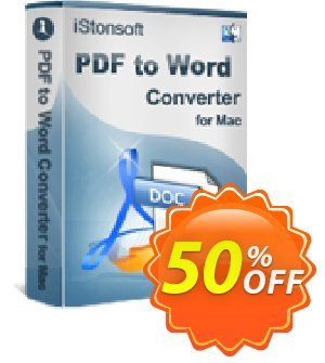 iStonsoft PDF to Word Converter for Mac 프로모션 코드 60% off 프로모션: