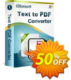 iStonsoft Text to PDF Converter Coupon, discount 60% off. Promotion: