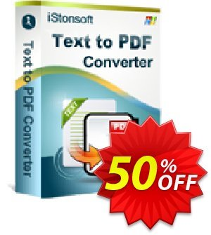 iStonsoft Text to PDF Converter Coupon discount 60% off -