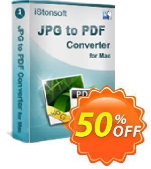 iStonsoft JPG to PDF Converter for Mac discount coupon 60% off -