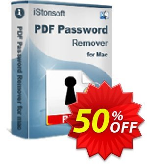 iStonsoft PDF Password Remover for Mac discount coupon 60% off -