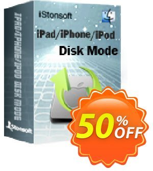 iStonsoft iPad/iPhone/iPod Disk Mode for Mac Coupon, discount Affiliate 60% OFF. Promotion: